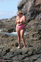 Curvy Claire. Mankini On The Rocks Pt1 Free Pic 14