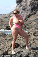 Curvy Claire. Mankini On The Rocks Pt1 Free Pic 16