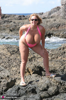 Curvy Claire. Mankini On The Rocks Pt1 Free Pic 20