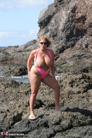 Curvy Claire. Mankini On The Rocks Pt2 Free Pic 2