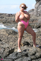 Curvy Claire. Mankini On The Rocks Pt2 Free Pic 3