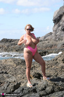 Curvy Claire. Mankini On The Rocks Pt2 Free Pic 10