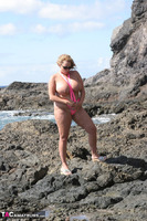 Curvy Claire. Mankini On The Rocks Pt2 Free Pic 11