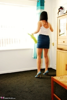 Raunchy Raven. Raven Cleans In Her Tights & CFM Heels Pt1 Free Pic 1