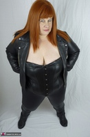 Mrs Leather. My Leather Pants Come Off Free Pic 3