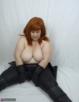 Mrs Leather. My Leather Pants Come Off Free Pic 12