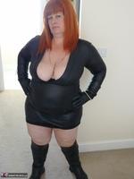 Mrs Leather. Wearing My Leather Slut Dress Free Pic 2