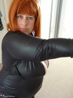 Mrs Leather. Wearing My Leather Slut Dress Free Pic 3