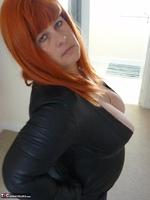 Mrs Leather. Wearing My Leather Slut Dress Free Pic 4