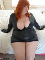 Mrs Leather. Wearing My Leather Slut Dress Free Pic 6
