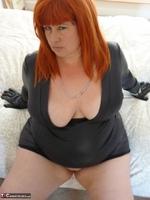 Mrs Leather. Wearing My Leather Slut Dress Free Pic 8