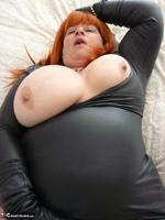 Mrs Leather. Wearing My Leather Slut Dress Free Pic 13