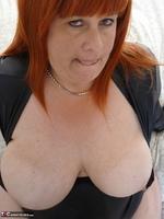 Mrs Leather. Wearing My Leather Slut Dress Free Pic 16