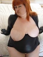 Mrs Leather. Wearing My Leather Slut Dress Free Pic 17