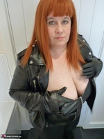 Mrs Leather. Leather Rock Chick Pt1 Free Pic 9