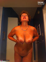 Busty Bliss. Stripping In The Bathroom & Shower Power Free Pic 3