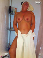 Busty Bliss. Stripping In The Bathroom & Shower Power Free Pic 17