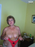 Busty Bliss. Black Spade & A Red Pantie For A Great Fan Free Pic 14