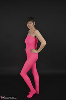 Hot Milf. Pink Catsuit Free Pic 1