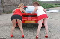 Curvy Claire. Little Red Sports Car Pt1 Free Pic 1
