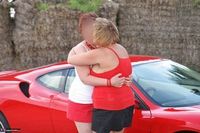 Curvy Claire. Little Red Sports Car Pt1 Free Pic 2