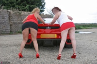 Curvy Claire. Little Red Sports Car Pt2 Free Pic 12