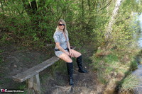 Sweet Susi. In The Forest On The Bench Free Pic 1