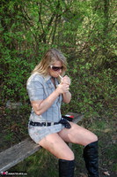 Sweet Susi. In The Forest On The Bench Free Pic 2