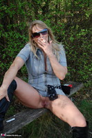 Sweet Susi. In The Forest On The Bench Free Pic 4