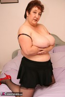 Kinky Carol. Stockings On The Bed Pt2 Free Pic 1