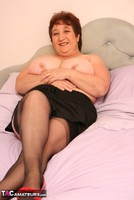 Kinky Carol. Stockings On The Bed Pt2 Free Pic 2