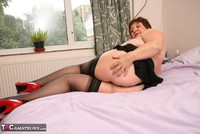 Kinky Carol. Stockings On The Bed Pt2 Free Pic 14