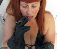 Mrs Leather. Smoky BJ Free Pic 2