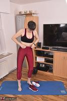 Hot Milf. Shiny Sports Leggings Pt1 Free Pic 9