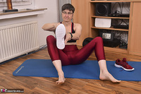 Hot Milf. Shiny Sports Leggings Pt1 Free Pic 11