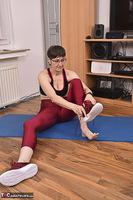 Hot Milf. Shiny Sports Leggings Pt1 Free Pic 13