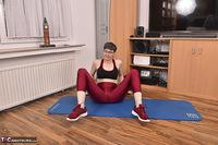 Hot Milf. Shiny Sports Leggings Pt1 Free Pic 15