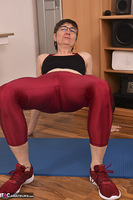 Hot Milf. Shiny Sports Leggings Pt1 Free Pic 16
