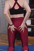 Hot Milf. Shiny Sports Leggings Pt2 Free Pic 4