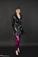 Hot Milf. Shiny Purple Leggings Free Pic 1