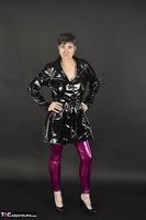 Hot Milf. Shiny Purple Leggings Free Pic 2