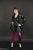 Hot Milf. Shiny Purple Leggings Free Pic 3