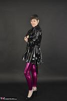 Hot Milf. Shiny Purple Leggings Free Pic 6
