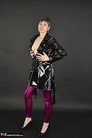 Hot Milf. Shiny Purple Leggings Free Pic 7
