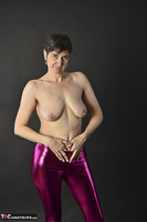Hot Milf. Shiny Purple Leggings Free Pic 15