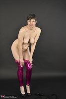 Hot Milf. Shiny Purple Leggings Free Pic 18