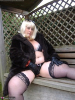 Mrs Leather. Blonde In The Garden Free Pic 4