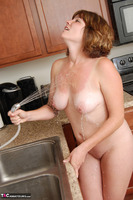 Misty B. Getting wet in the kitchen Free Pic 12