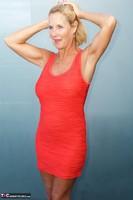 Molly MILF. Orange Dress Pt1 Free Pic 3