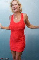 Molly MILF. Orange Dress Pt1 Free Pic 4